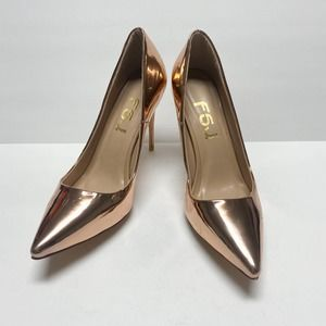 FSJ Pointed Toe Stiletto High Heel Slip On Pumps